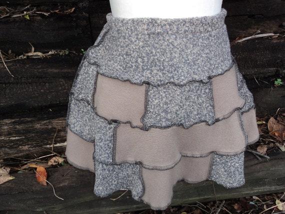 Children's Fleece Patchwork Skirt