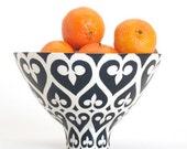 Handmade, Ceramic, Bowl, Luxury, Gift, Gold Edged, Newport Gate, Navy, Blue