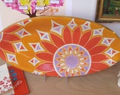 ON SALE Oval Tray in Feather Tangerine half price
