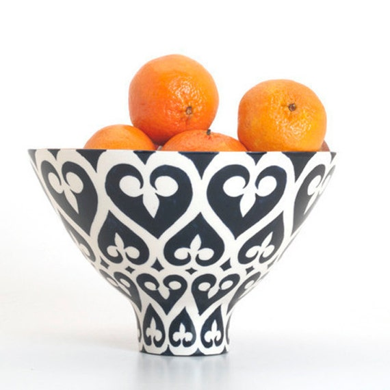 Handmade, Pottery, Bowl, Luxury, Gift, Gold Edged, Newport Gate, Navy, Blue