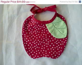 FRUITS  Baby Bibs - The  Apple, the Pumpkin, the Strawberry