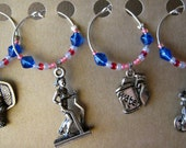 Get in Shape wine charm set of 4