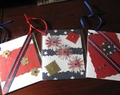 Patriotic card set, small cards, tags cards, cards for gifting wine (2x3 inch) election gifts hostess gifts 4th of july cards, blank inside
