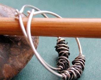 Organically Yours Sterling Silver Hoops