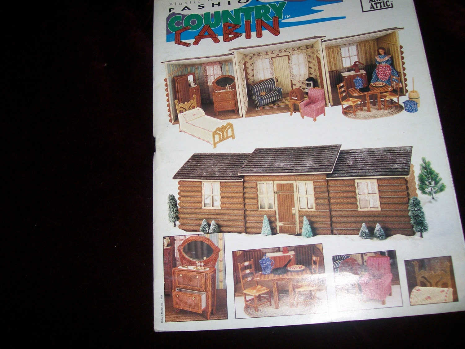 Annies Attic Fashion Doll Country Cabin Plastic Canvas Pattern