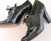 SUPER SALE vintage hot granny witch lace up oxford heels 7 - 7.5