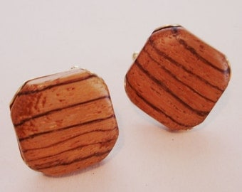 vintage wood grain cuff links