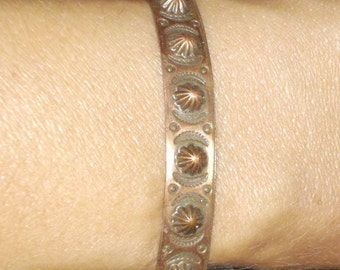 vintage copper sea urchin bracelet