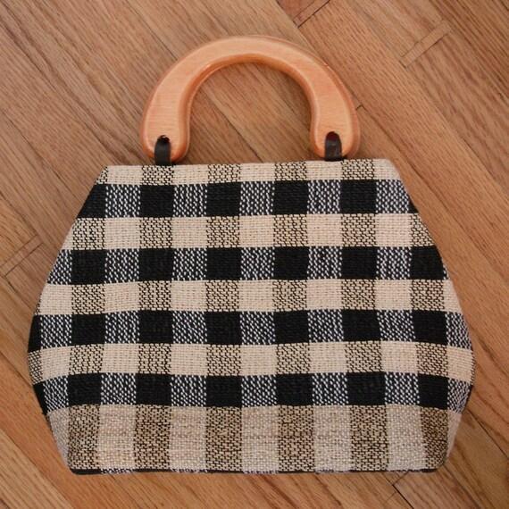 pristine vintage perfect plaid purse