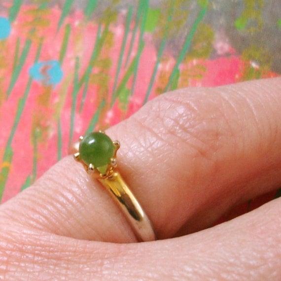 vintage simple jade ring