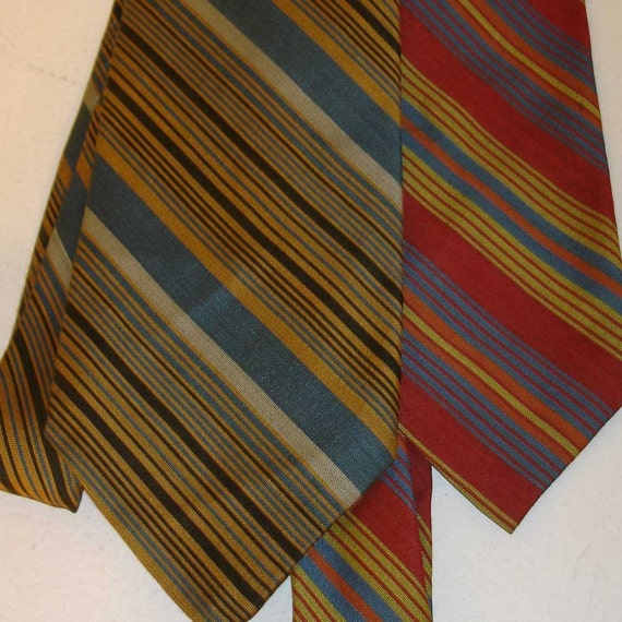 SALE the perfect pair - 2 vintage striped neckties