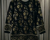 Vintage Glittery Winter Holiday Pullover Sweater Size L