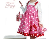 Valentines Kissing Mickey Applique Jumper dress