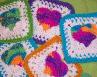 Fox's Heart of a Hippie 7 x 7 Crochet Pattern