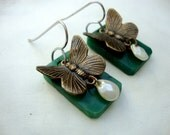 The Butterfly: Pearl Drop Earrings
