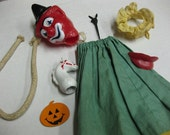 Clown Horse Lips Rope Toy 8 Parts Supplies Altered Art Assemblage Lot