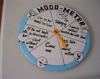 Mood Meter Pinback Button Damaged Valentine Men's Lover Novelty Scratched Gag ALTERED ART Collage SUPPLIES Sale