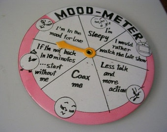 Mood Meter Pinback Button Damaged Valentine Lady's Lover Novelty Scratched Gag ALTERED ART COLLAGE Supplies