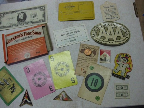 Large Lot Small Size Vintage Paper Ephemera Pan Am Supplies Altered Art Collage