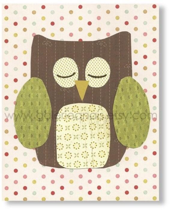Nursery art prints - baby nursery decor - nursery wall art - baby owl - The Zen Master print from Paris by GalerieAnais