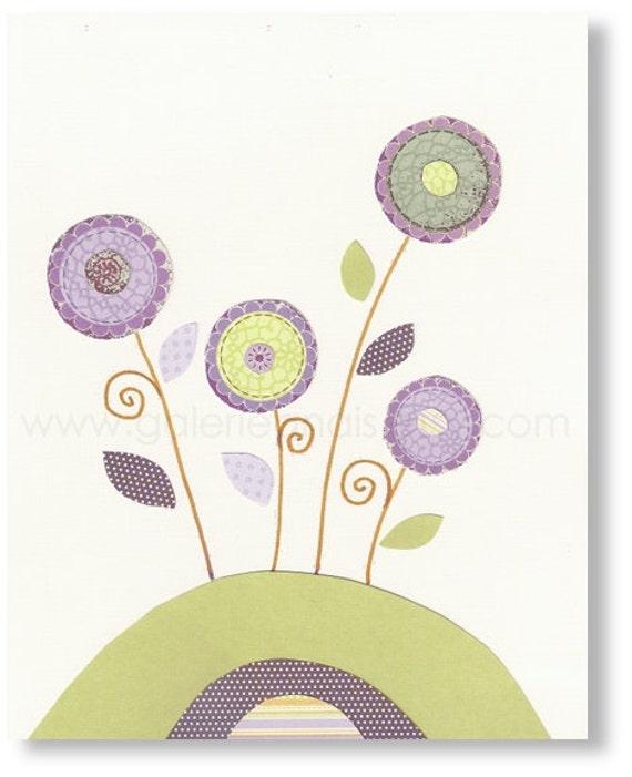 Nursery wall art - nursery art - baby nursery art - kids art - kids room decor - kids art - Flowers - Le Jardin print from Paris