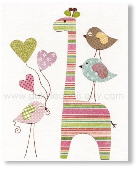 Etsy Girl Nursery Wall Decor : Kids wall art baby girl nursery print by
