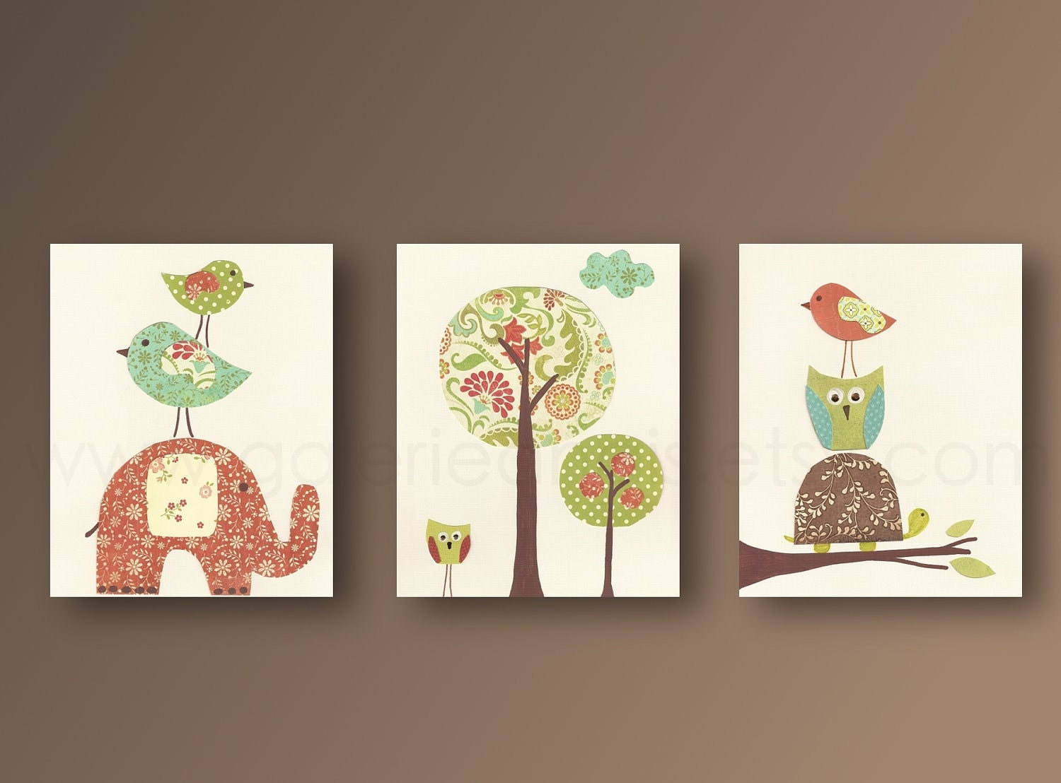 Cute nursery wall decor : Nursery wall art baby kids room decor owl