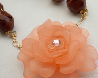 Peachy Keen Necklace and Earring Set