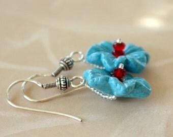 Tropical Stone Flower Earrings