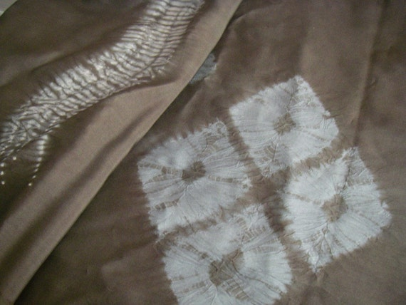 Vintage silk Japanese kimono fabric (shibori)