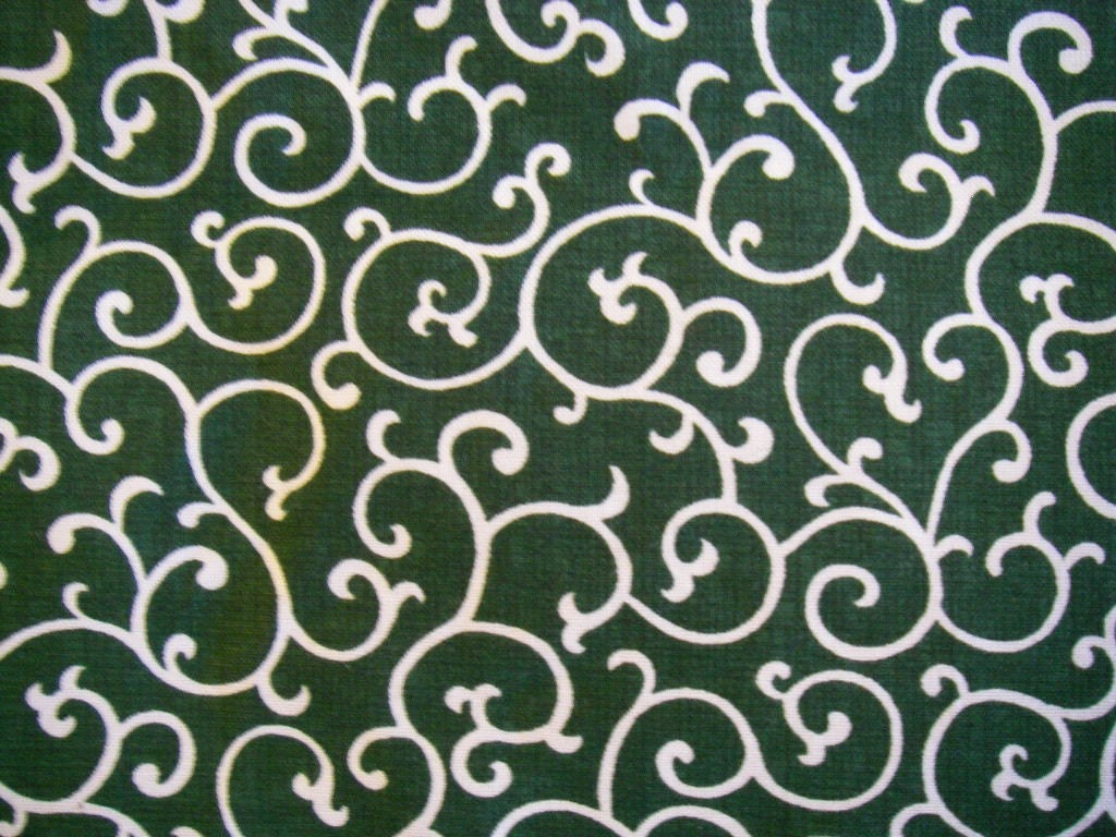 Japanese cotton fabric karakusa pattern green by hiroetakenaka for Fabric pattern