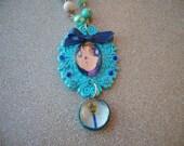 RESERVED-Sailor Mercury Plastic Pendant Necklace