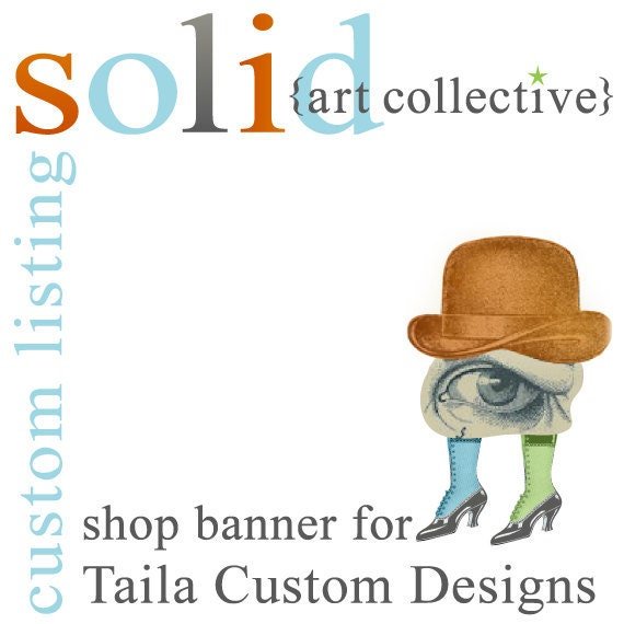CUSTOM Etsy Shop Banner for Taila Custom Designs