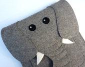 Elephant MacBook Air 11 inch case - Laptop felt sleeve - Animal shoulder bag