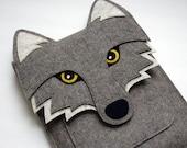 Wolf iPad Air / 2 / 3 / 4 felt sleeve