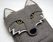 Wolf New MacBook case, laptop felt bag