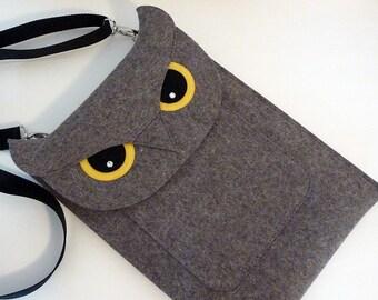 Owl MacBook Air 13 inch case - Laptop felt case