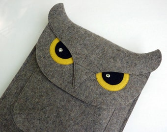 Owl iPad Air 1 / 2, iPad  2 / 3 / 4 felt case