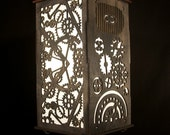 Gears - Wood Shoji Lamp  - Black (Some Assembly Required)