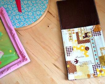 Wall pocket - mail organizer - wall decor - Fall patchwork