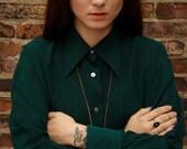 80's style 100% SILK blouse