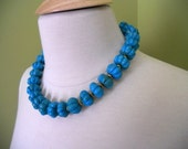 ON SALE FEDRA turquoise statement necklace