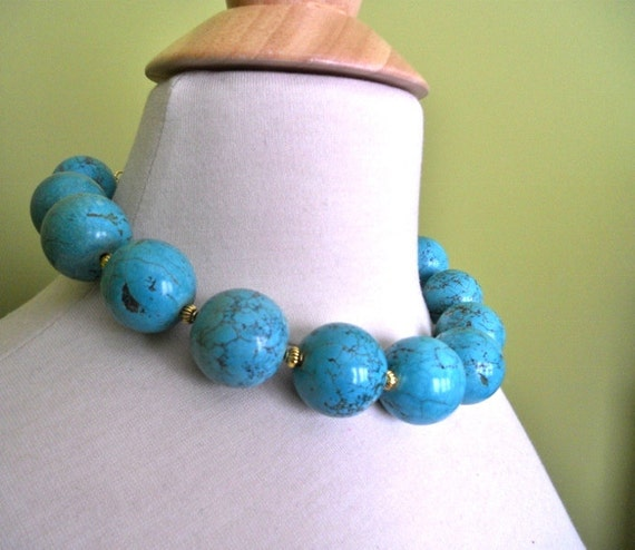 REMEDIOS turquoise statement necklace