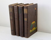 vintage historian's book set, 4 volumes from 1921. Beacon Lights of History by Lord.