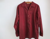 SALE / vintage 1950s irridescent dress shirt. Mid century retro in a Men's xl. / the FINE WINE shirt