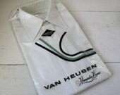 vintage 1970s GLASS OF MILK shirt, 15. 2 x 33, never worn, Nos