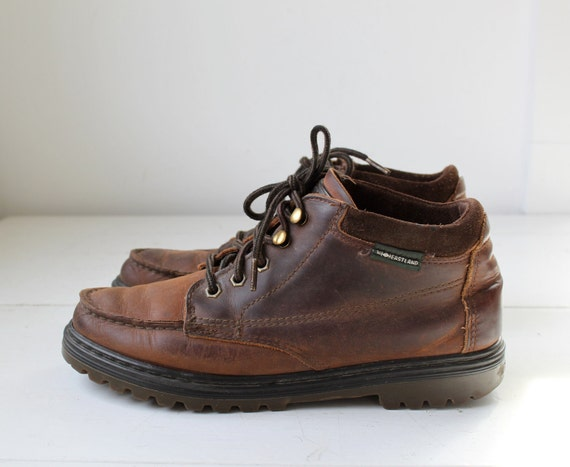 vintage 1980s MORE GORP chukka boots. Moc toe hikers by