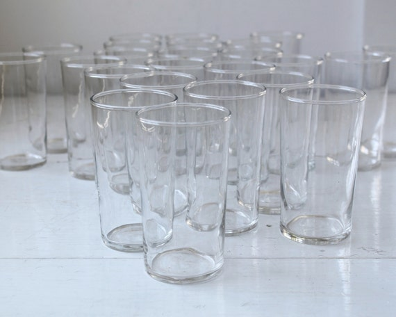 Thick Drinking Glasses With Bubbles
