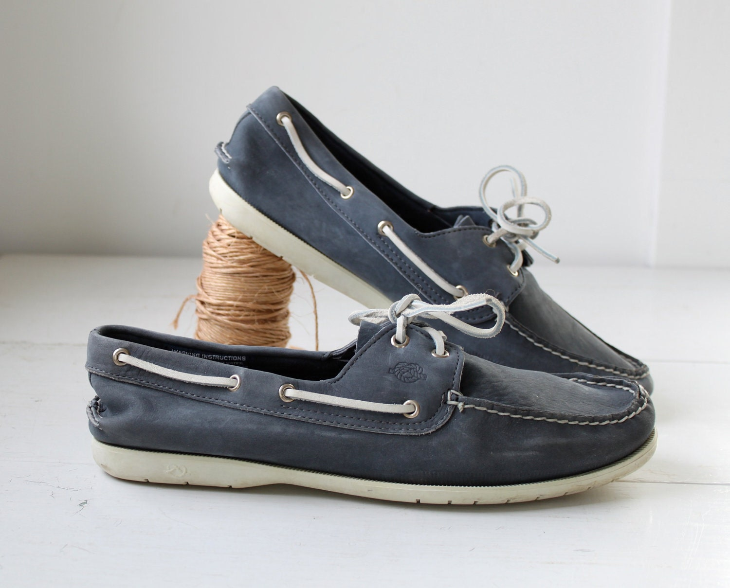 vintage 1980s s boat shoes by size 13 preppy