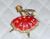 Vintage Ballerina Pin